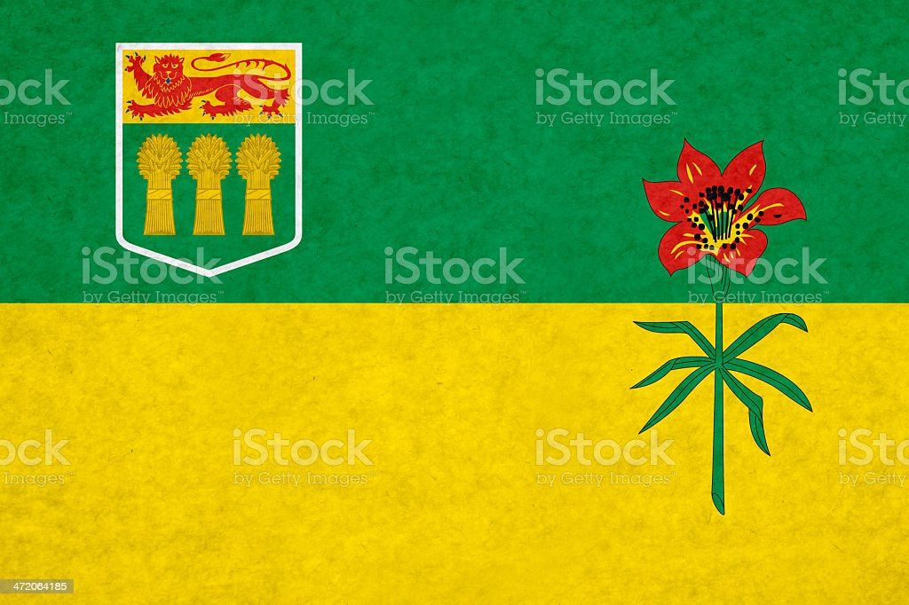 Saskatchewan flag stock photo
