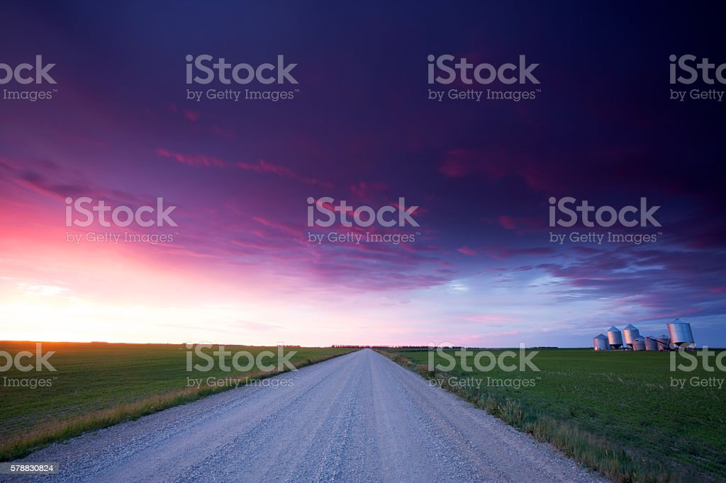 Saskatchewan Grain Storage Bins stock photo