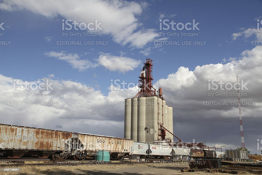 Saskatchewan Grain Terminal royalty-free stock photo