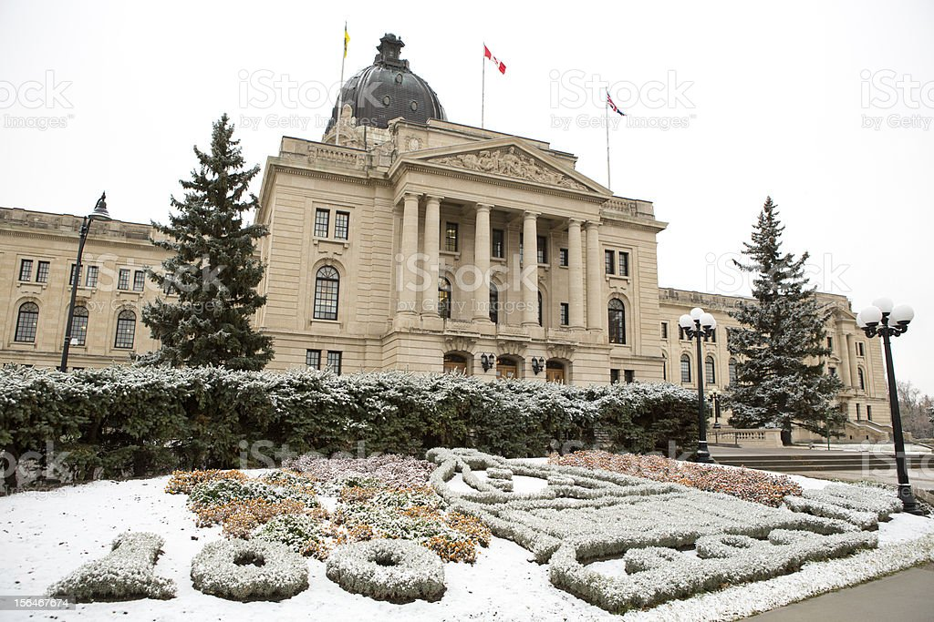 Saskatchewan Legislative Building in Regina Canada royalty-free stock photo