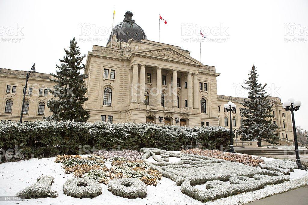 Saskatchewan Legislative Building in Regina Canada stock photo