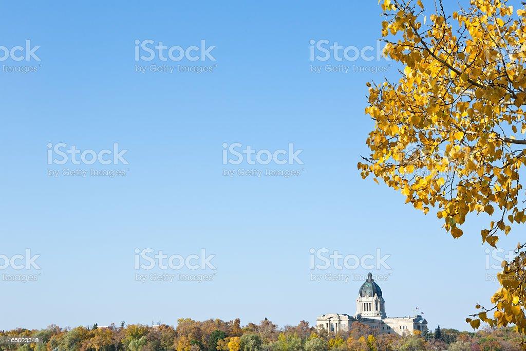 Saskatchewan Legislative Building in Regina Saskatchewan stock photo