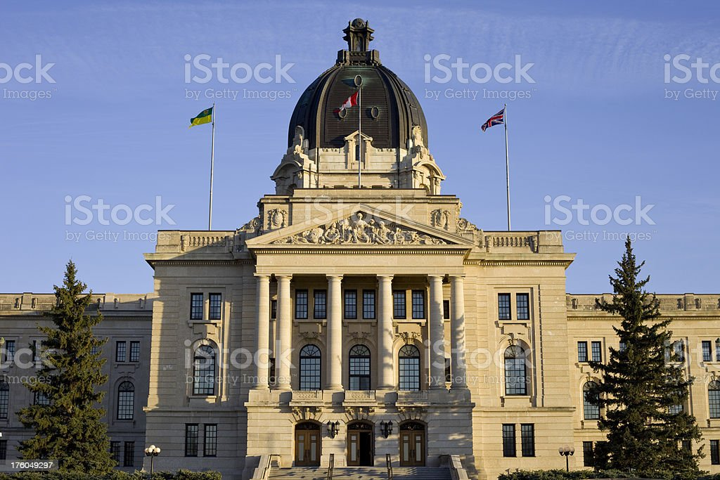 Saskatchewan Legislative Building royalty-free stock photo
