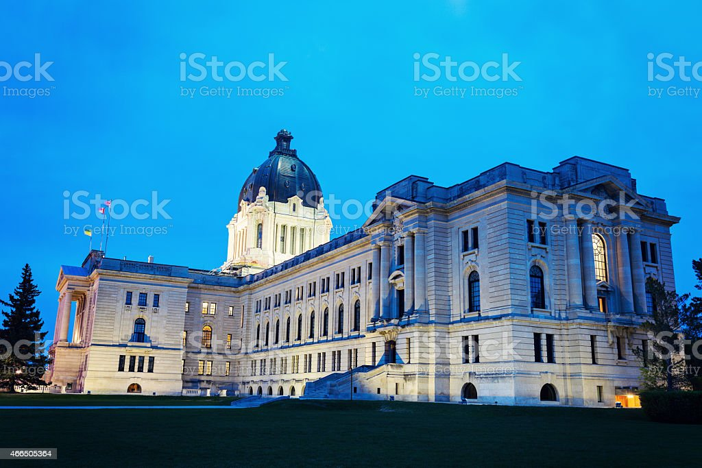 Saskatchewan Legislative Building stock photo