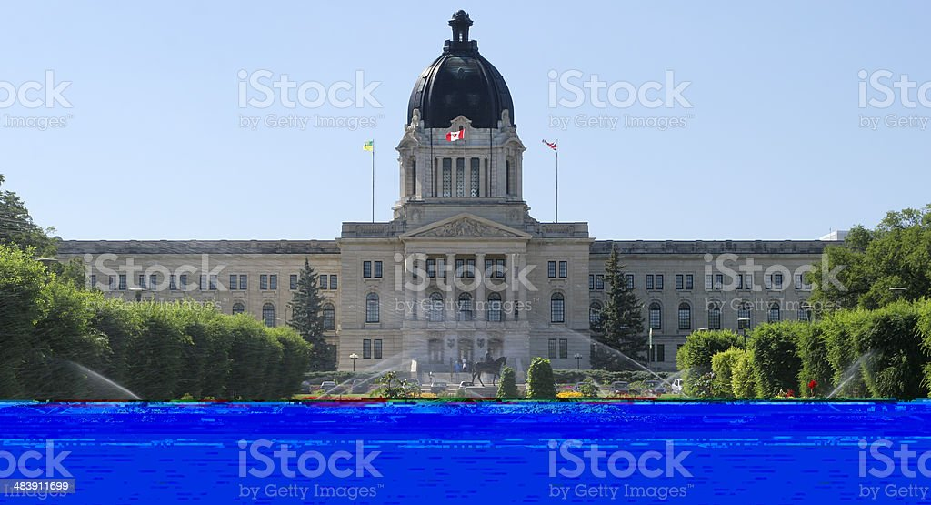 Saskatchewan Parliament, Regina stock photo