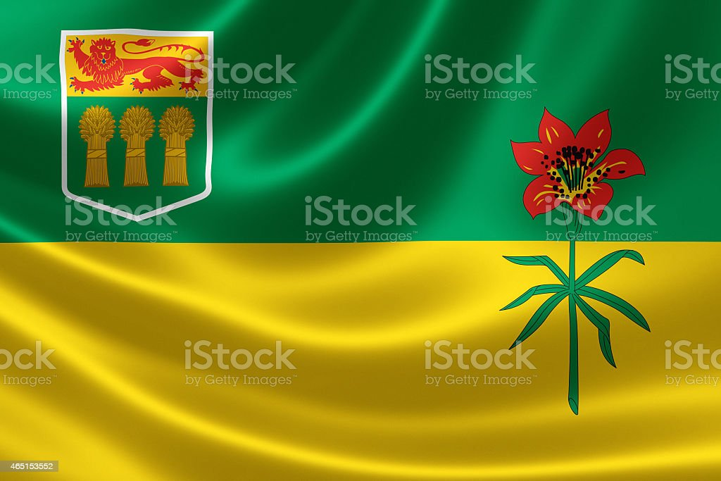 Saskatchewan Provincial Flag of Canada stock photo