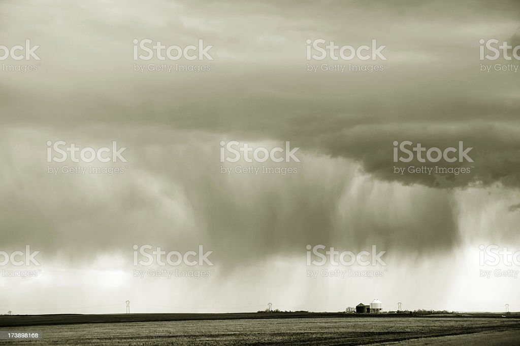 saskatchewan rain storm royalty-free stock photo