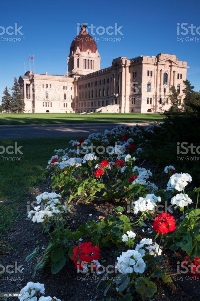 Saskatchewan Regina legistlature Building stock photo