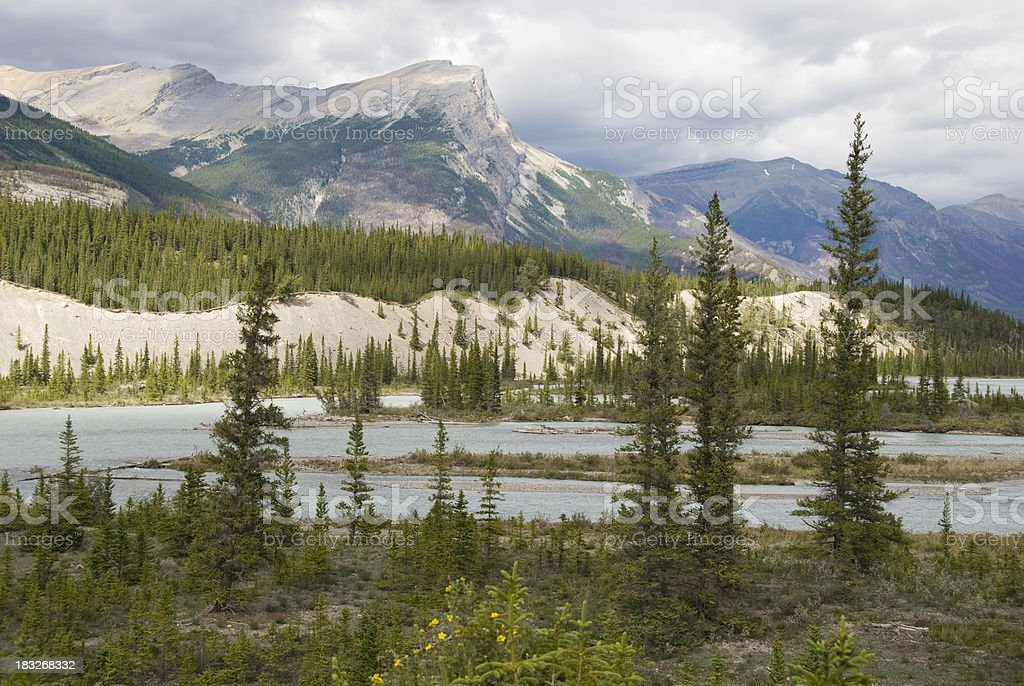Saskatchewan River royalty-free stock photo