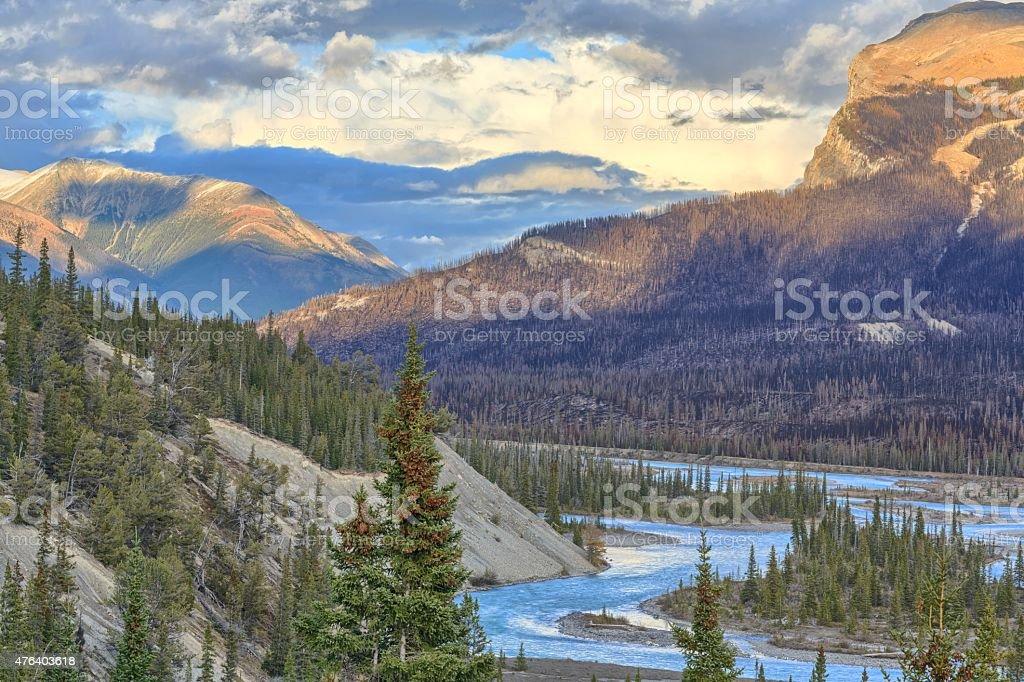 Saskatchewan River stock photo