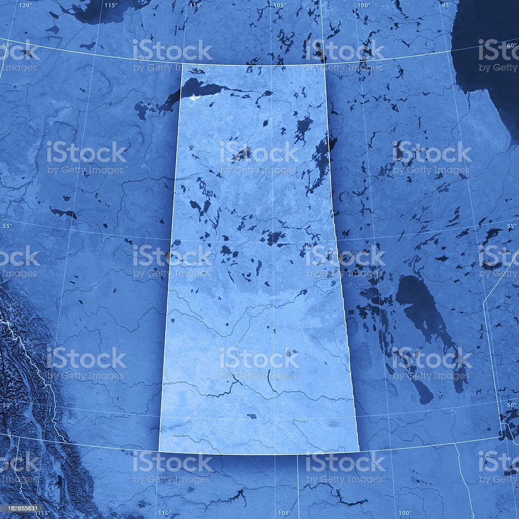 Saskatchewan Topographic Map stock photo