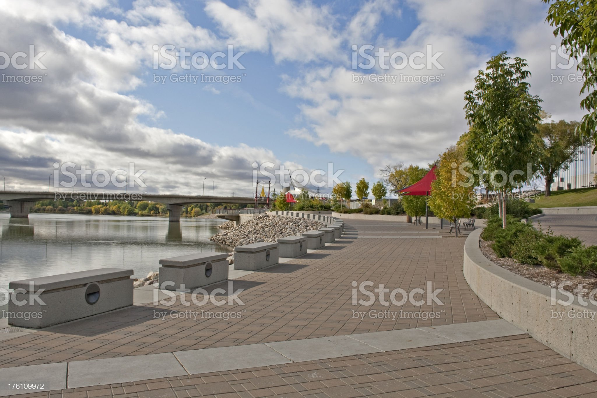 Saskatoon River Walk royalty-free stock photo