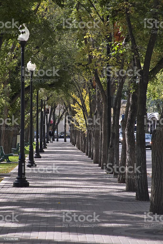Saskatoon Sidewalk royalty-free stock photo