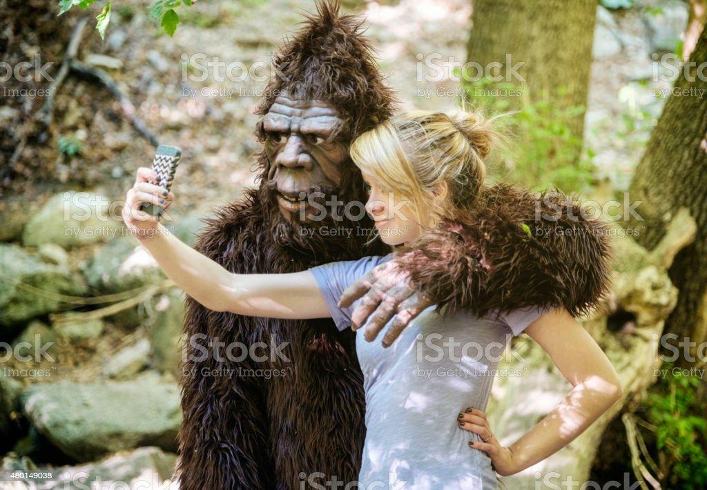 Sasquatch Selfie stock photo