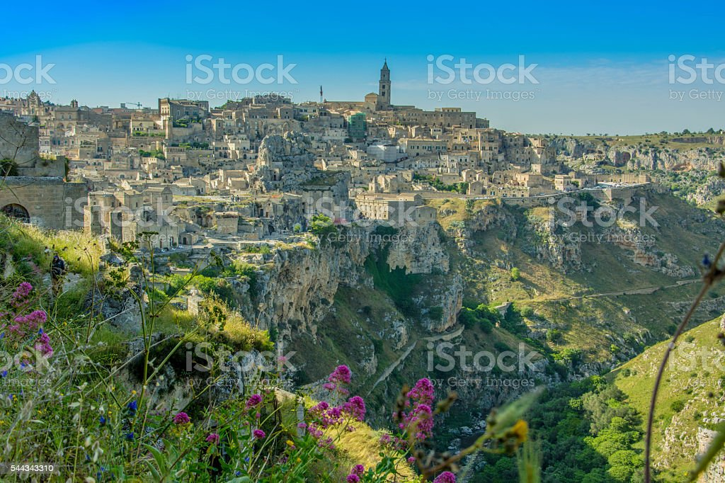 Sassi di Matera in Italy stock photo