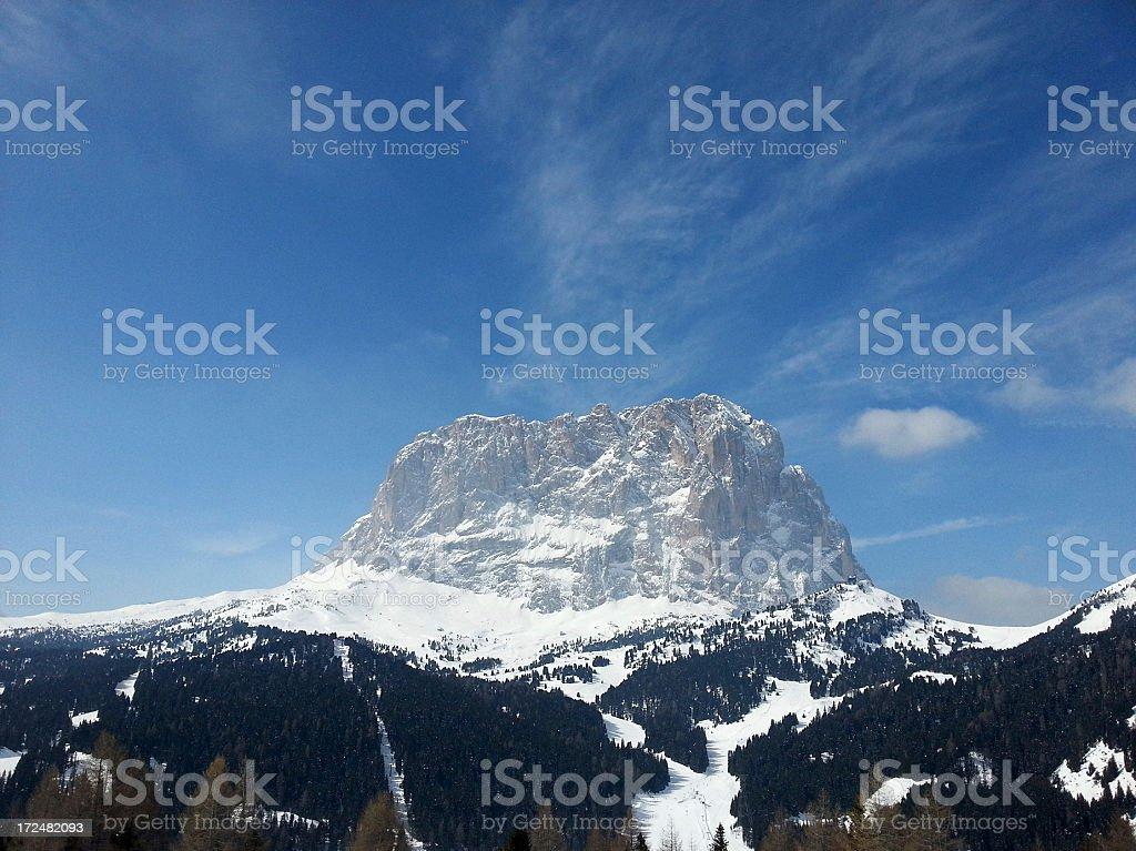 Sasslong, Dolomites royalty-free stock photo