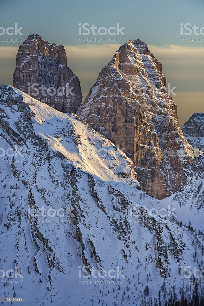 Sasso di Toanella & Rocchetta Alta stock photo