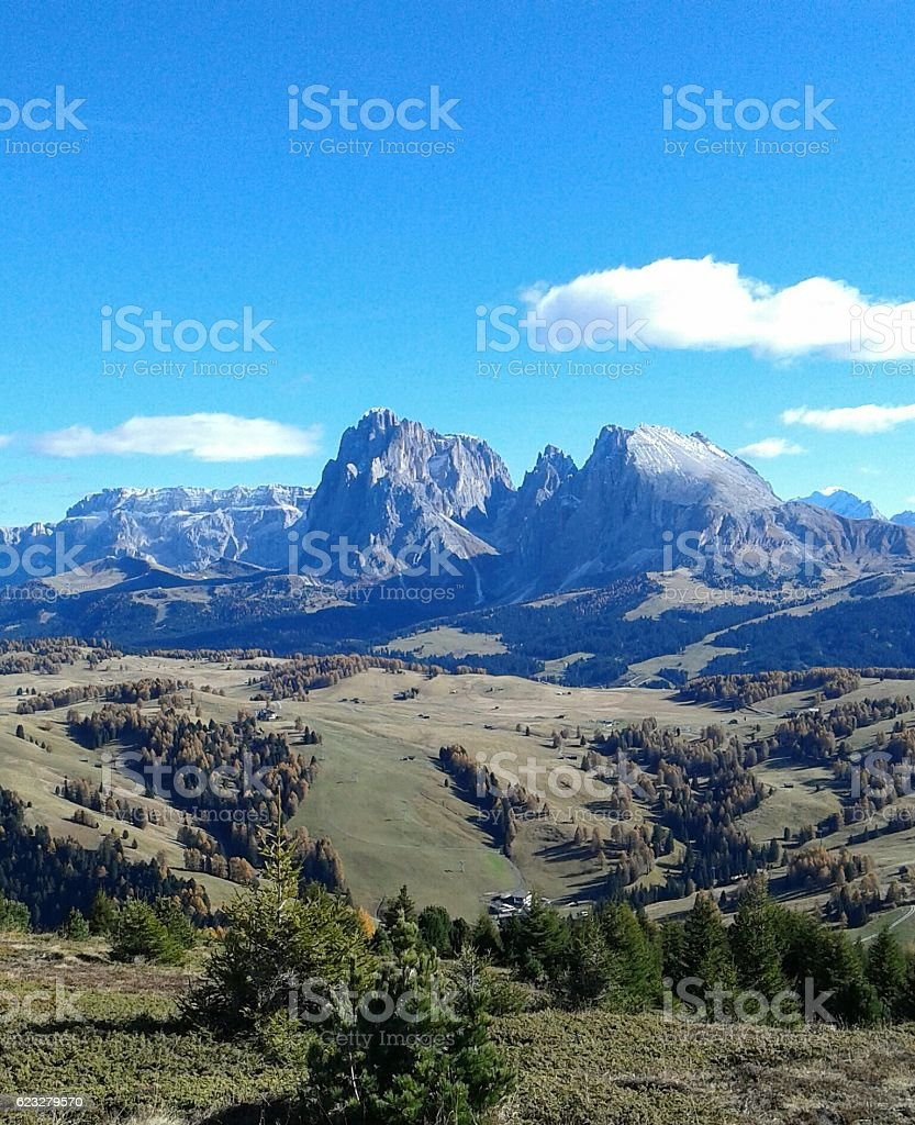 Sasso Lungo e Sasso Piatto, Sudtirol,  1st of November 2016 stock photo