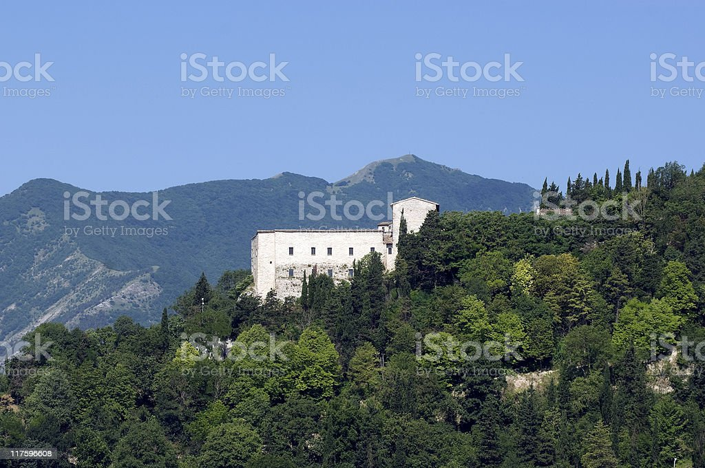 Sassoferrato (Pesaro Urbino, Marches, Italy) - Castle stock photo