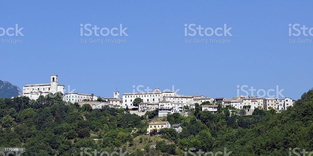 Sassoferrato (Marches, Italy) - Panoramic view stock photo