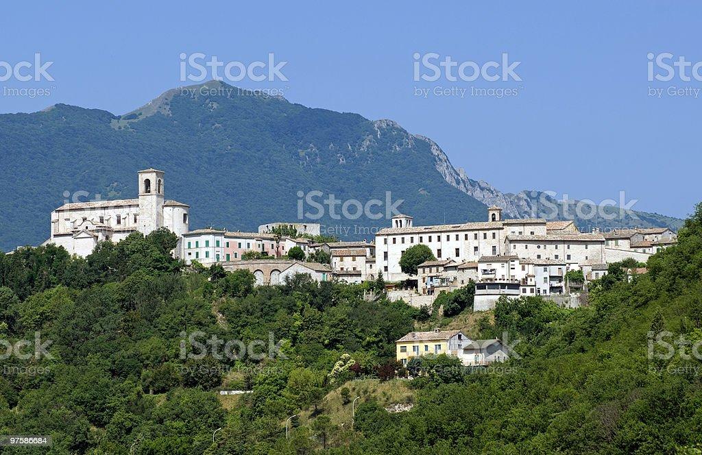 Sassoferrato - Panoramic view stock photo