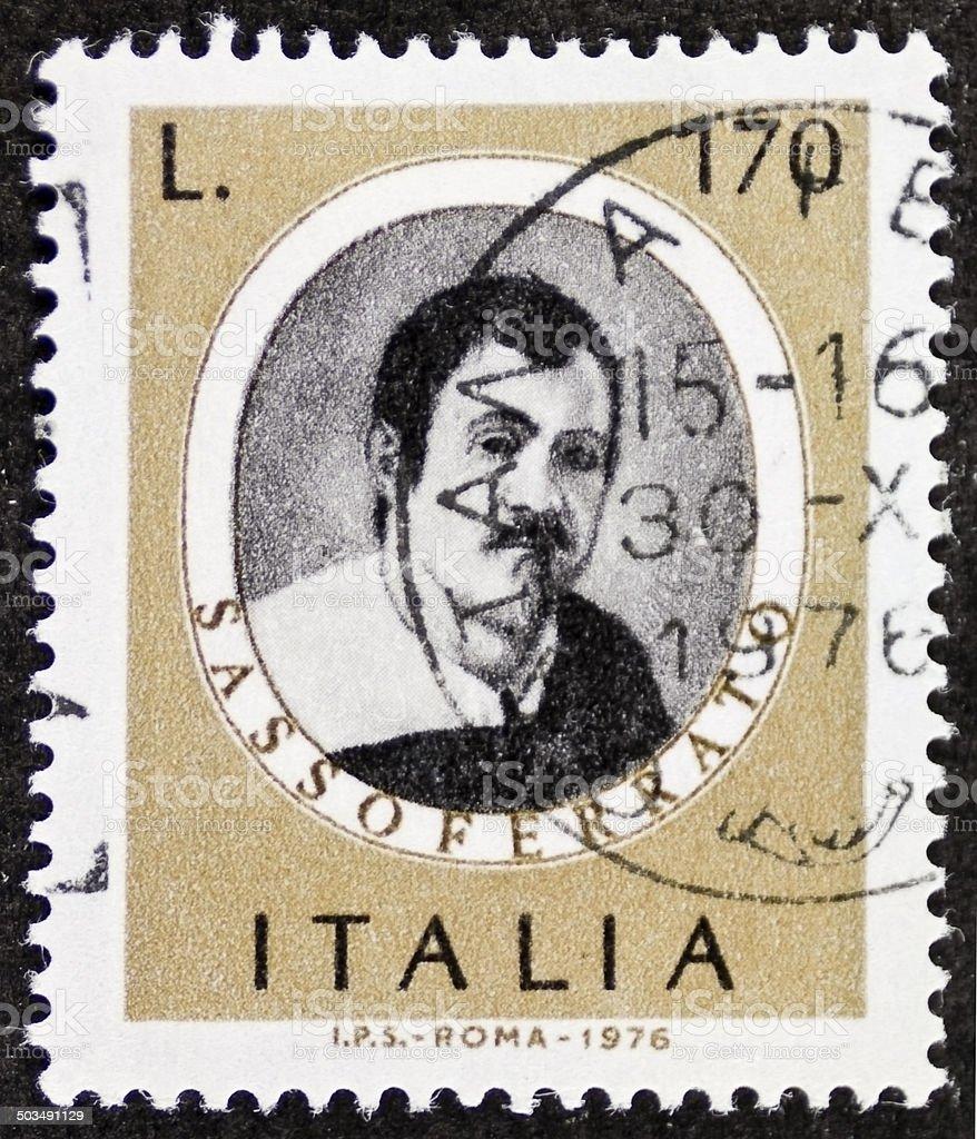 Sassoferrato postage stamp stock photo