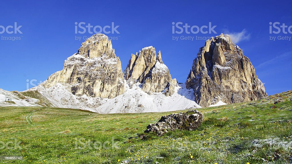 Sassolungo 3181m. Italy stock photo