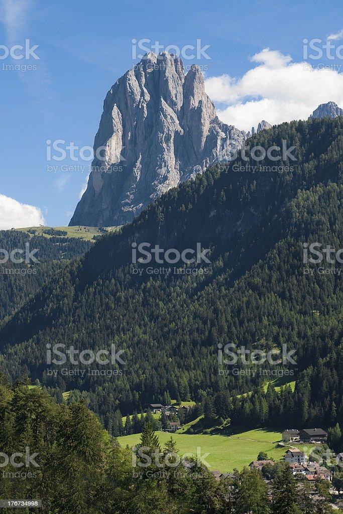 Sassolungo from Ortisei royalty-free stock photo