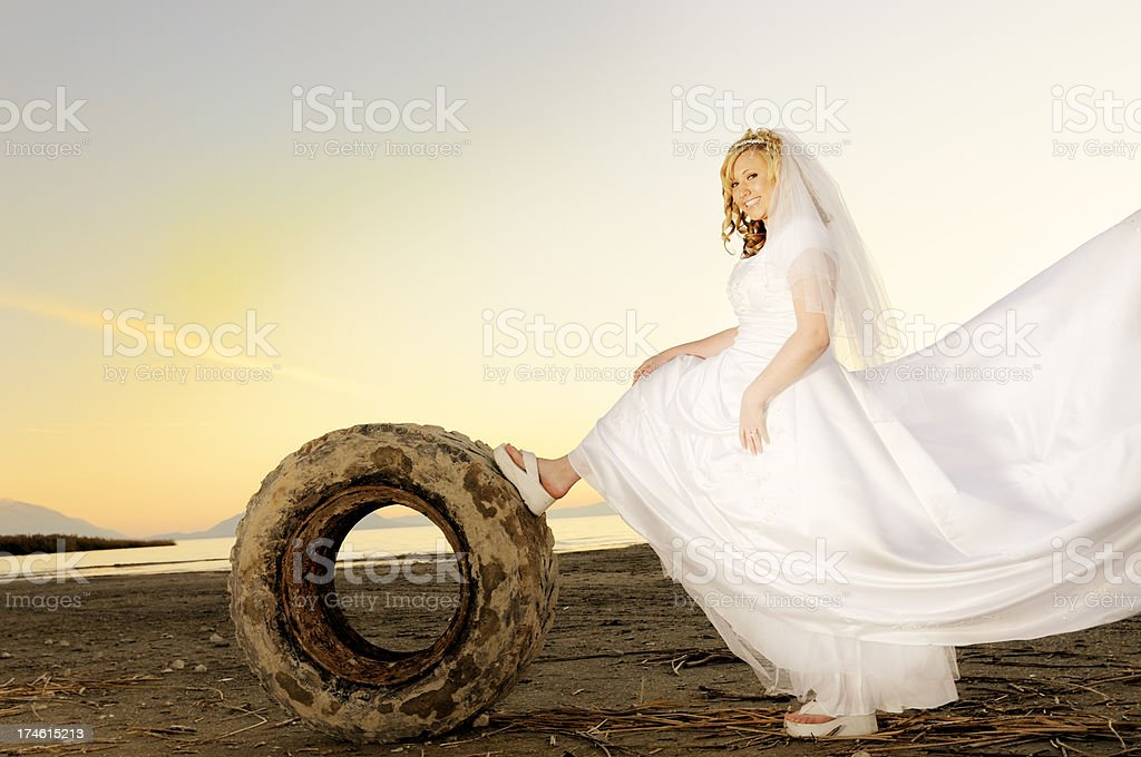 Sassy Bride stock photo
