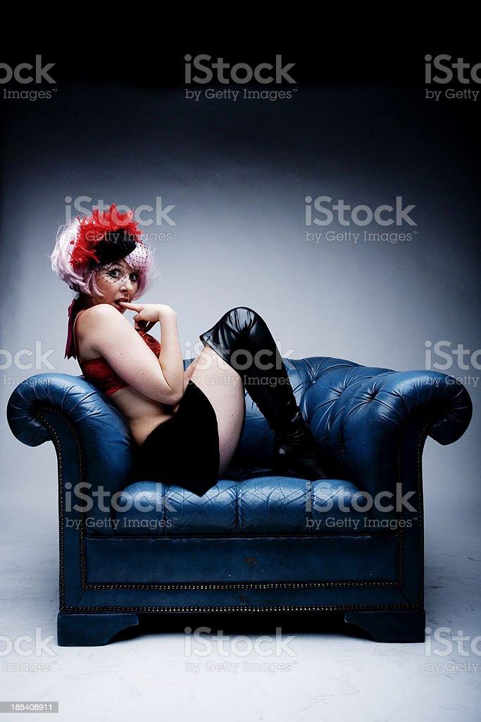 Sassy Caberet Girl stock photo