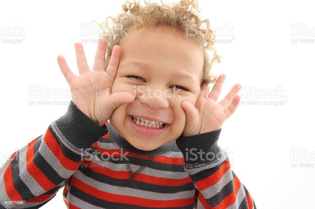 Sassy Happy Boy stock photo