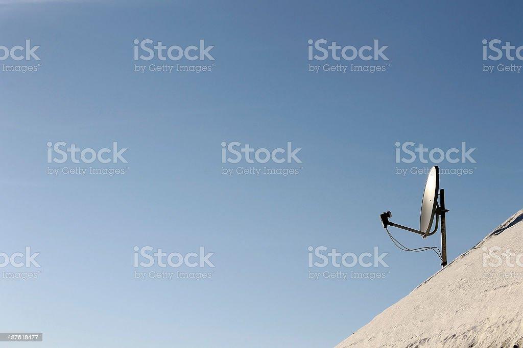 sat satellite antenna royalty-free stock photo