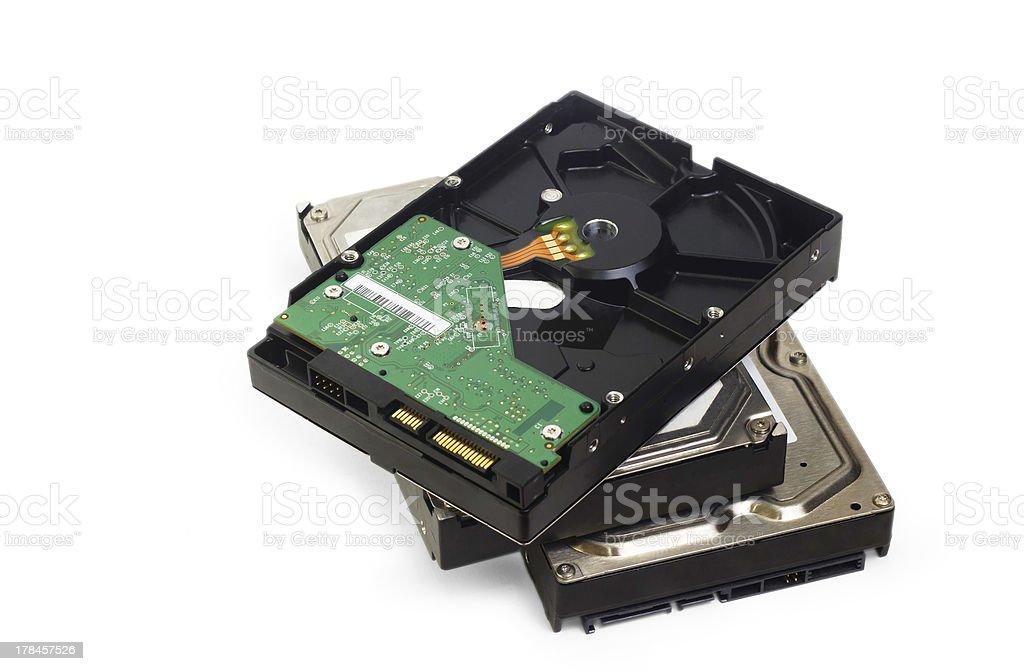 s-ata hard drive isolated on white background stock photo