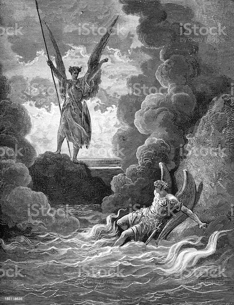 Satan and Beelzebub stock photo