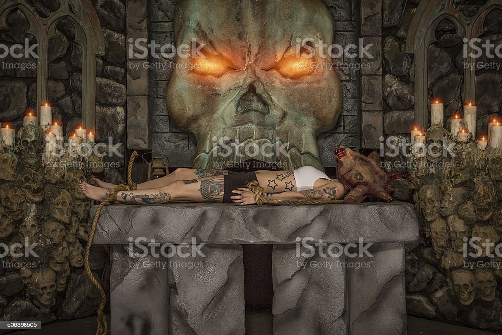 Satanic Sacrifice stock photo