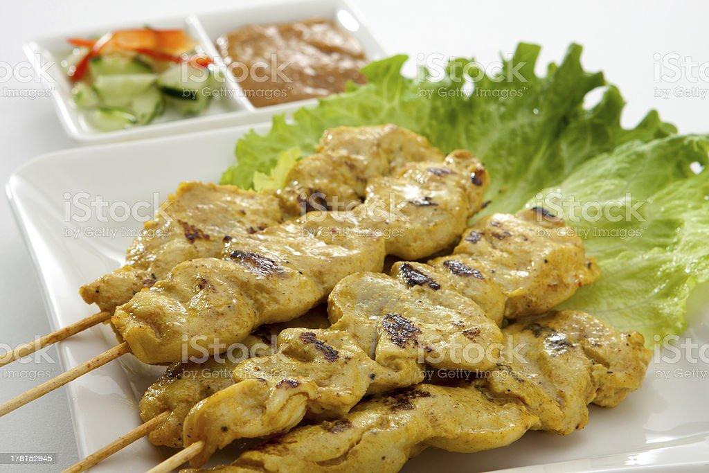 Satay Chicken royalty-free stock photo