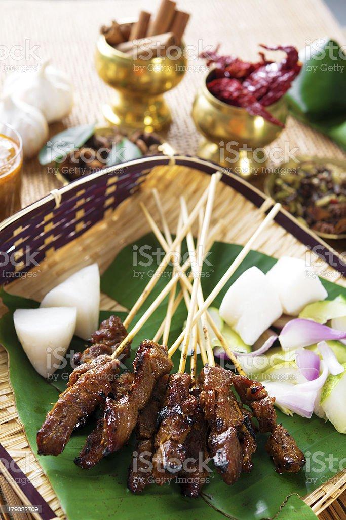 Satay Malay food stock photo