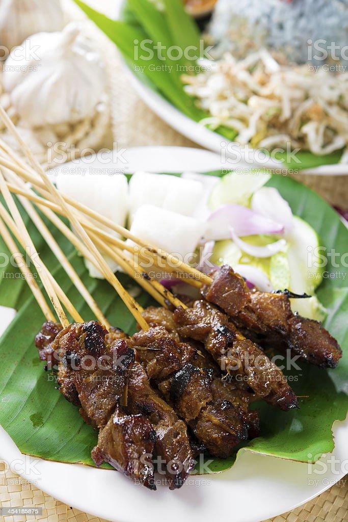 Satay or sate stock photo