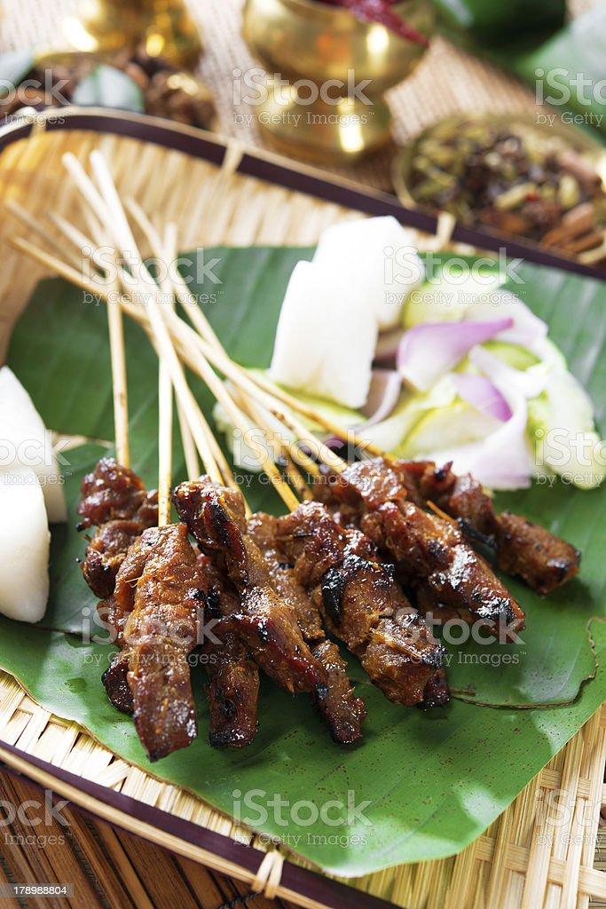 Satay Southeast Asia food stock photo