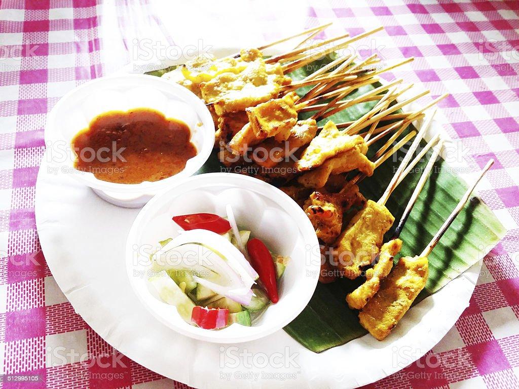 Satay Thailand stock photo