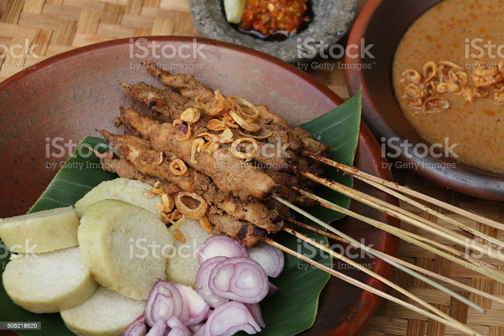 Sate Ayam Blora stock photo