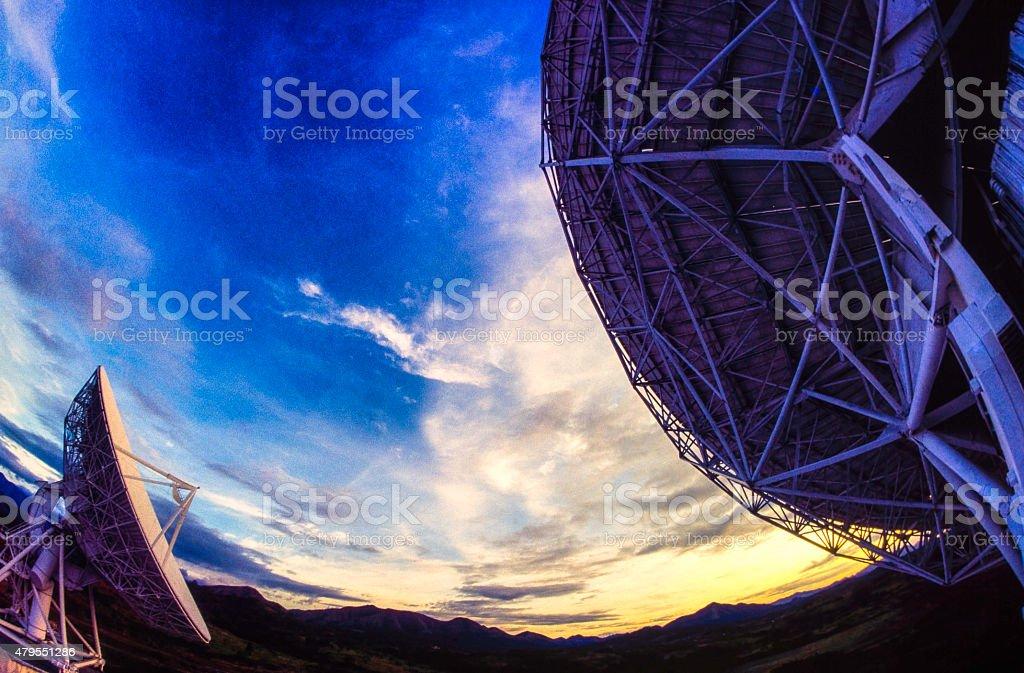 Satelite Dishes stock photo