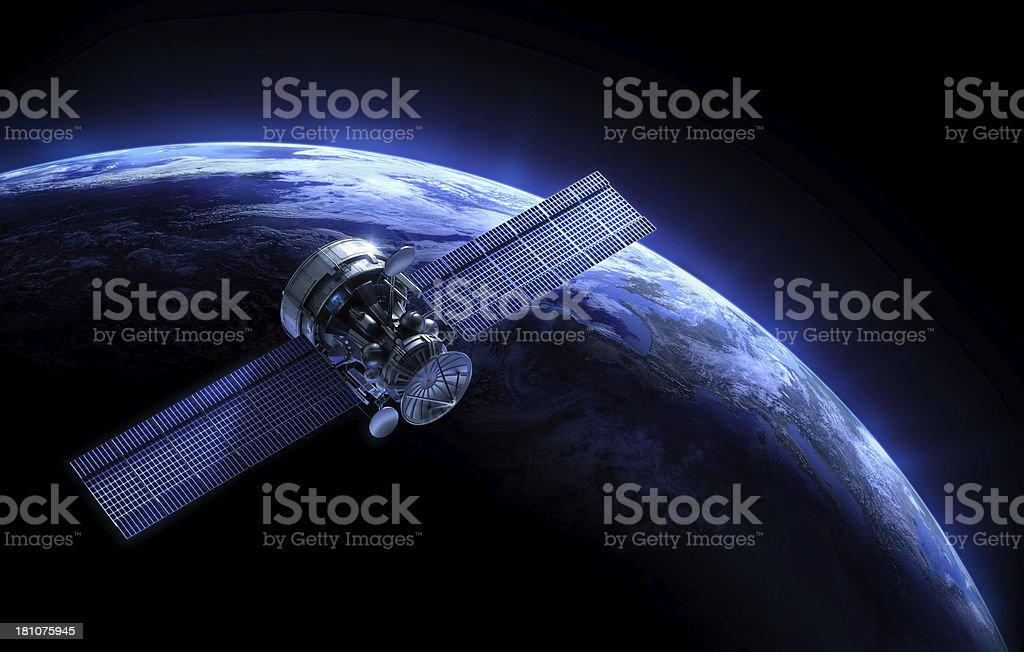 Satellite and planet stock photo