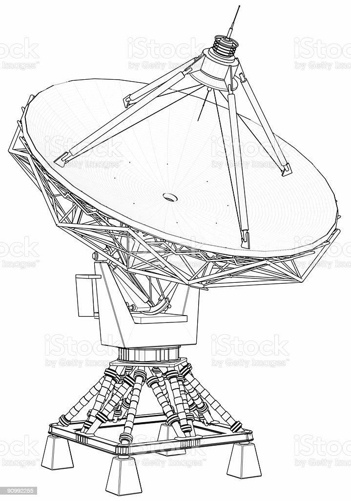 satellite antenna (doppler radar) stock photo