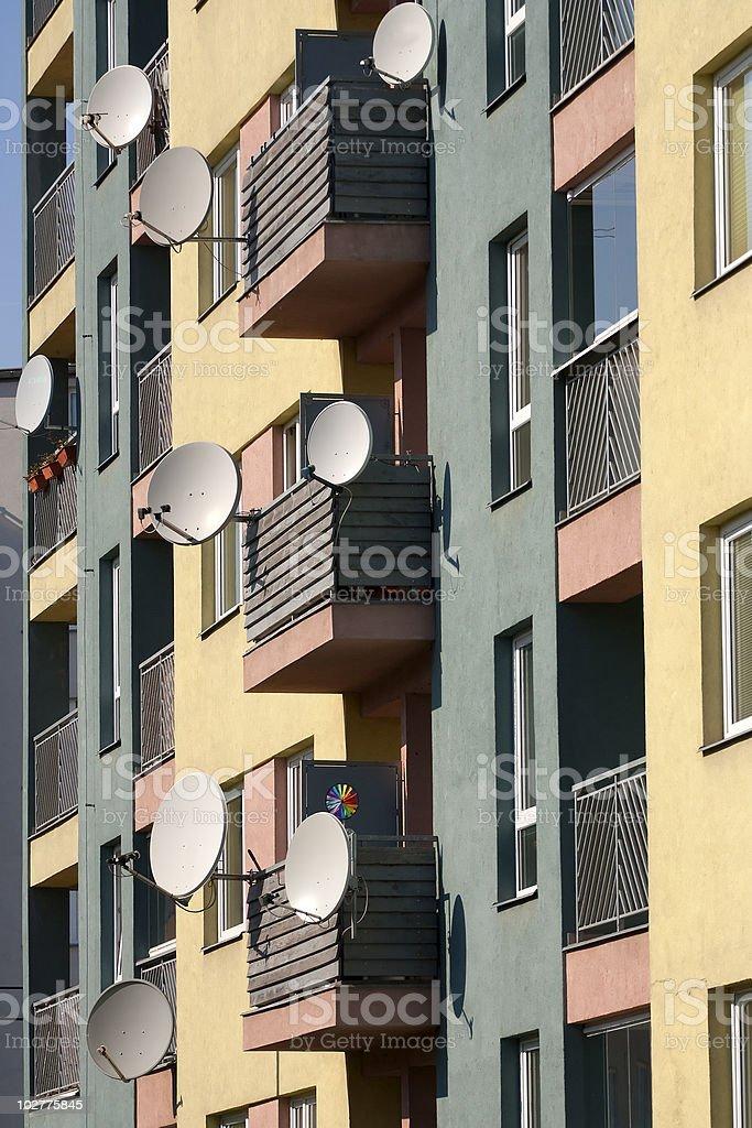 Satellite antennas royalty-free stock photo