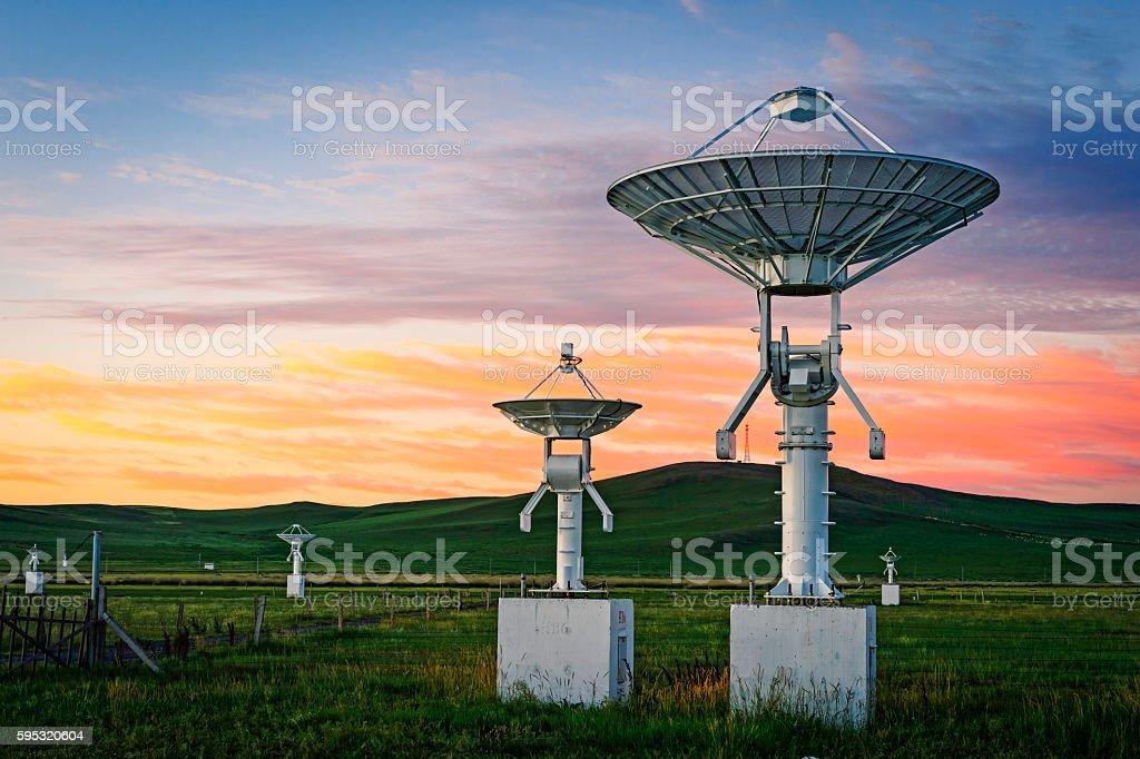 Satellite Array stock photo