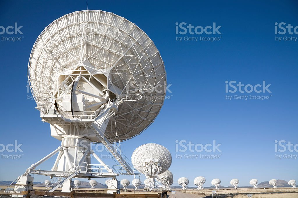 Satellite Array - VLA royalty-free stock photo