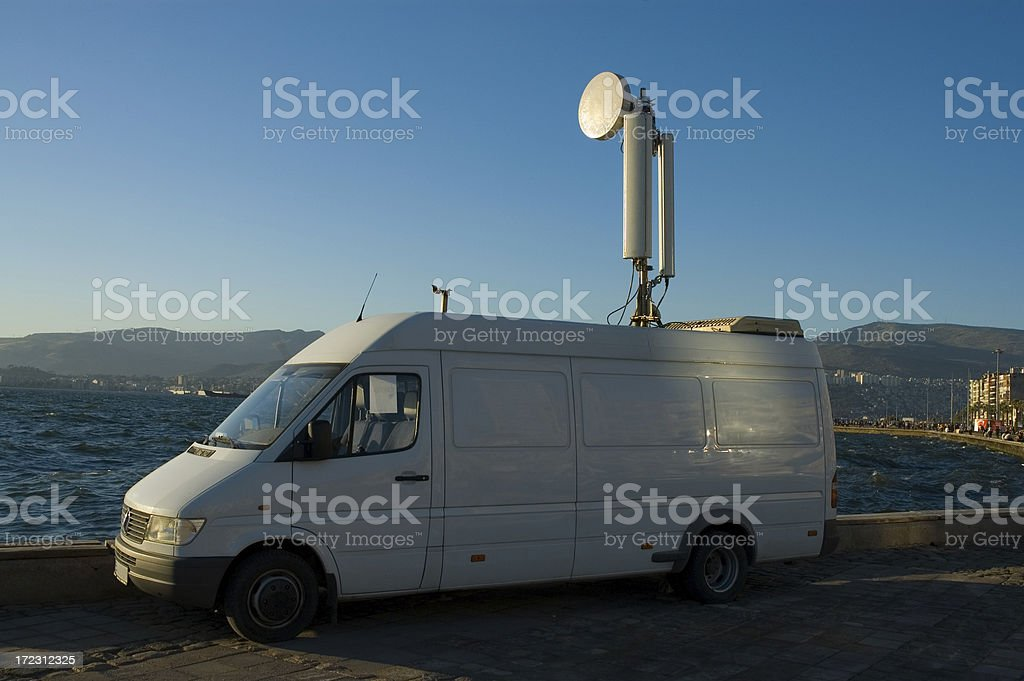 satellite car stock photo