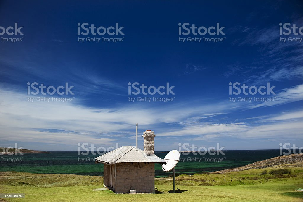 Satellite communication royalty-free stock photo