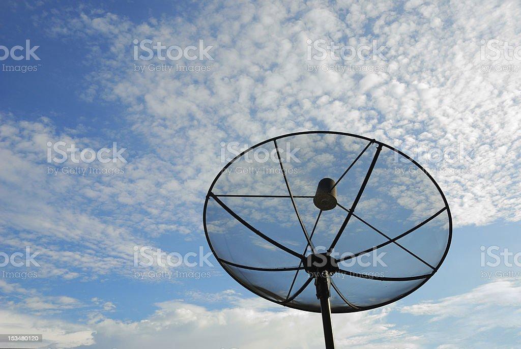 satellite disc stock photo